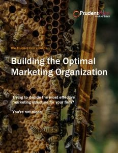 thumbnail of The Prudent Firms Guide to Building the Optimal Marketing Organization 2017