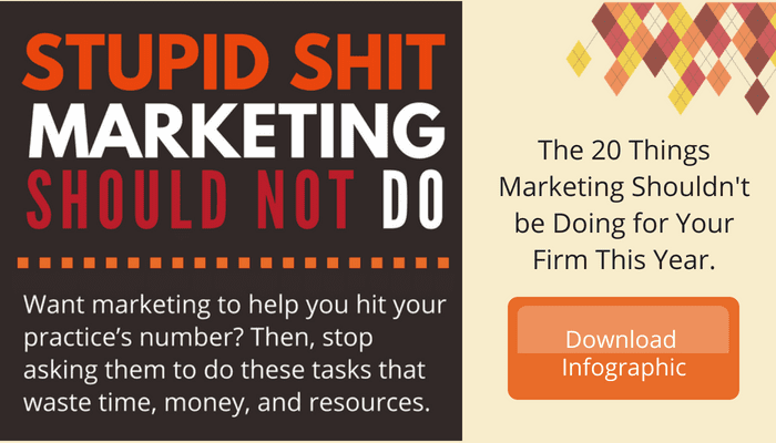 things professional service marketing should not do INFOGRAPHIC CTA