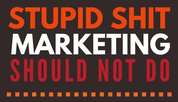 things marketing should not do infographic